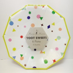"""Toot Sweet Charms 7"""" Paper Plate, 8pcs"""