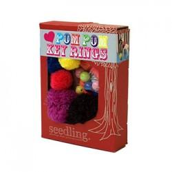 Love Pom Pom Key Rings