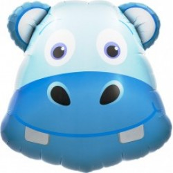"Hippo Head 24"" Foil Balloon"