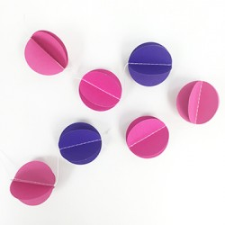 Garland - Pink & Purple Circles