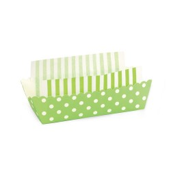 Paper Baking Trays in Apple Green with Liners, 8 sets