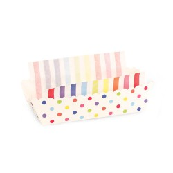 Paper Baking Trays in Rainbow Spots with Liners, 8 sets