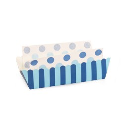 Paper Baking Trays in Sherbert Blue with Liners, 8 sets