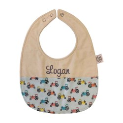 Personalized Baby Bib - Cars