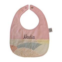 Personalized Baby Bib - Mountain Pink