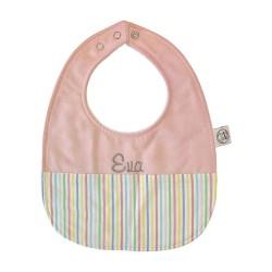 Personalized Baby Bib - Stripes
