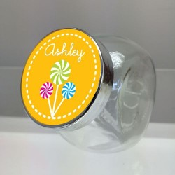 Personalized Mini Glass Jar with Sticker, 12pcs