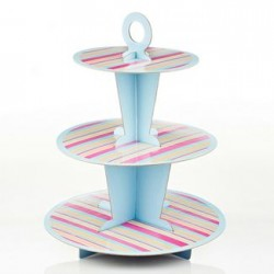 Cupcake Stand in color stripes