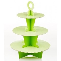 Cupcake Stand in apple green with white dots