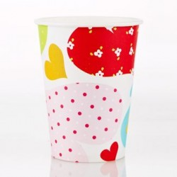 Heart 9oz Paper Cup, 12pcs