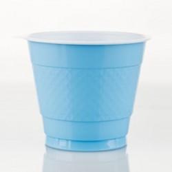 Light Blue 9oz Plastic Cup, 18pcs