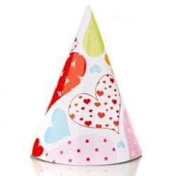 Heart Party Hat, 12pcs