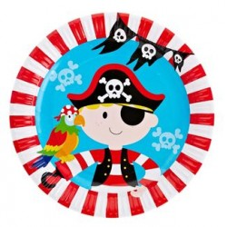 "Pirate 9"" Paper Plate, 12pcs"