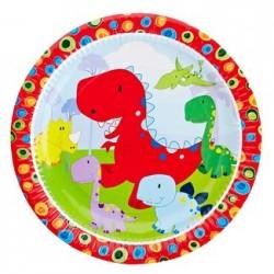 "Dinosaur 9"" Paper Plate, 12pcs"