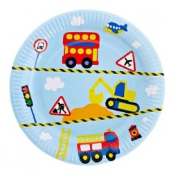 "Transport 9"" Paper Plate, 12pcs"