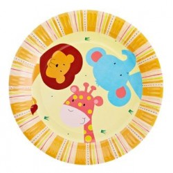 "Jungle 9"" Paper Plate, 12pcs"