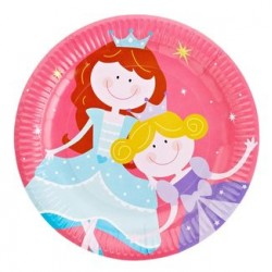 "Princess 9"" Paper Plate, 12pcs"