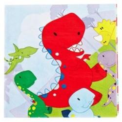 Dinosaur Napkin 33 x 33cm, 12 pcs