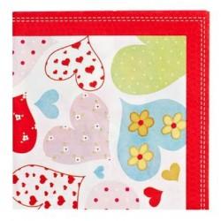 Heart Napkin 33 x 33cm, 12pcs
