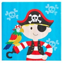 Pirate Napkin 33 x 33cm, 12pcs