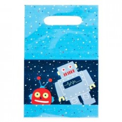 "Robot Loot Bag 6"" x 9"", 12pcs"