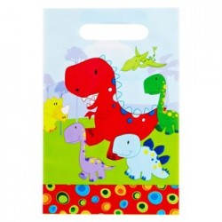 "Dinosaur Loot Bag 6"" x 9"", 12pcs"