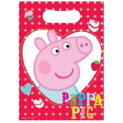 "Peppa Pig Loot Bag 6.5"" x 9"", 8pcs"