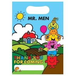 """Mr Men Loot Bag 6.5"""" x 9"""", 8pcs"""
