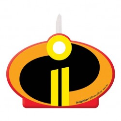 Incredibles 2 Birthday Candle, 1pc