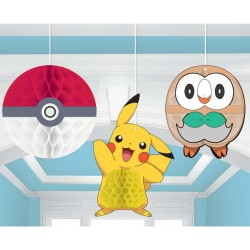 Pokemon Core Honeycomb Decoration, 3pcs