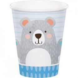 Birthday Bear 9oz Paper Cup, 8pcs