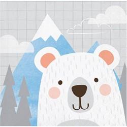 Birthday Bear Napkin, 16pcs