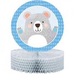 Birthday Bear Honeycomb Centerpiece, 1pc