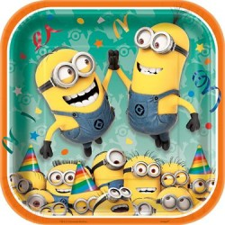 "Despicable Me Minion 9"" Plate, 8pcs"