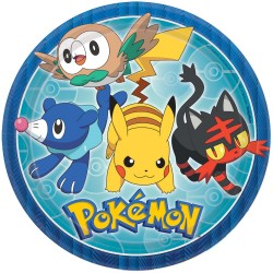 "Pokemon Core 9"" Paper Plate, 8pcs"