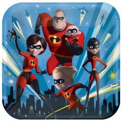 "Incredibles 2 9"" Paper Plate, 8pcs"