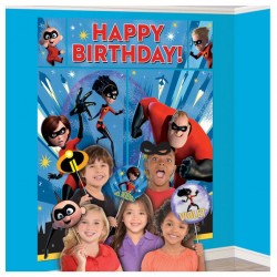 Incredibles 2 Scene Setter Wall Decoration With Photo Props