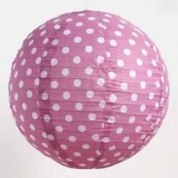 Lantern - Dots Purple