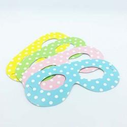 Party Eye Mask - Dots Assortment, 12pcs