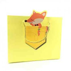 Paper Gift Bag - Fox, 5pcs