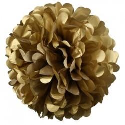 Tissue Pom Pom - Gold