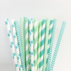 Paper Straw Assortment - Ocean, 25pcs