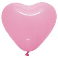 "12"" Heart Bubblegum Pink Latex Balloon (with helium)"