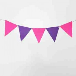 Flag Bunting - Hot Pink + Purple