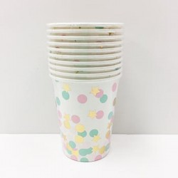 Confetti 9oz Paper Cup, 10pcs