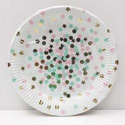 """Confetti 9"""" Paper Plate, 10pcs"""