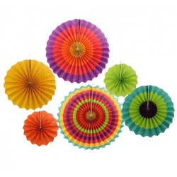Pinwheel Decoration Set - Fiesta (set of 6)