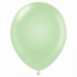 "11"" Round Pastel Turquoise Latex Balloon"