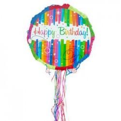 Happy Birthday Stripes Pinata