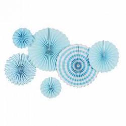 Pinwheel Decoration Set - Blue (set of 6)